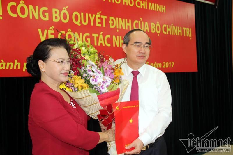 Nguyễn Thiện Nhân, Nguyen Thien Nhan, Bí thư TP HCM, Đinh La Thăng, Dinh La Thăng