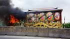 Cháy xe tang, cả nhà náo loạn