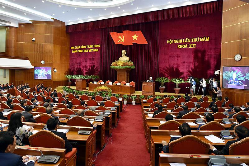 Hội nghị trung ương 5, Trung ương Đảng khóa 12, Ban chấp hành Trung ương, Tổng bí thư, Nguyễn Phú Trọng, kinh tế tư nhân