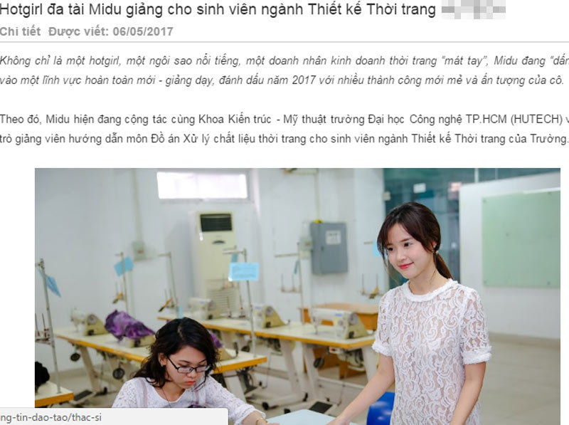 hot girl, Midu, giảng viên, mạng xã hội