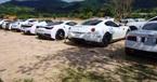 Dàn xe Ferrari toàn màu trắng của đại gia Trung Nguyên