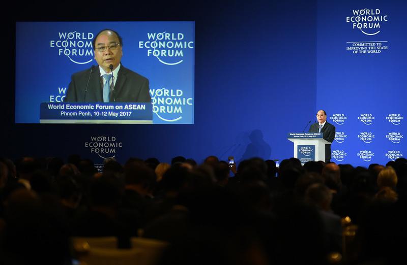 Hình ảnh Thủ tướng bắt đầu các hoạt động tại WEF-ASEAN