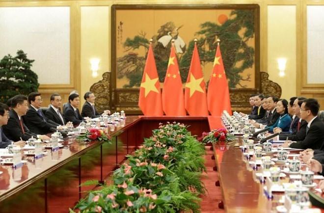 Chủ tịch nước Trần Đại Quang, Trần Đại Quang, Chủ tịch Trung Quốc Tập Cận Bình, Biển Đông