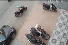 Bẻ khóa, trộm xe SH cực nhanh trên phố Hà Nội