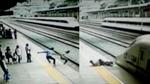 Khoảnh khắc người hùng cứu nữ sinh lao đầu vào tàu cao tốc