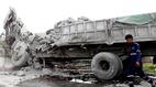 Xe tải đối đầu, 2 tài xế chết tại chỗ