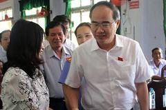 Ông Nguyễn Thiện Nhân tiếp xúc cử tri tại Trà Vinh