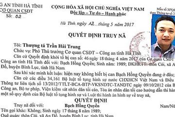 Truy nã đối tượng cầm đầu vụ tụ tập ở Hà Tĩnh