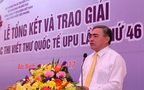 Trao giải cuộc thi Viết thư quốc tế UPU lần thứ 46