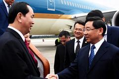 Chủ tịch nước đến thăm Phúc Kiến