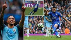 Thắng hú vía Leicester, Man City vào top 3