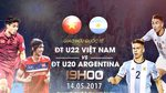 Link xem trực tiếp U22 Việt Nam vs U20 Argentina