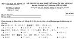 Đề thi tham khảo môn Tiếng Nhật kỳ thi THPT quốc gia 2017