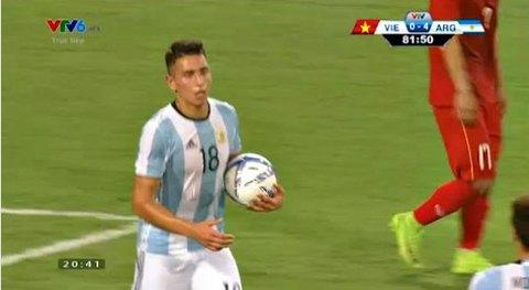 U22 Việt Nam 0-5 U20 Argentina phút 82 goal