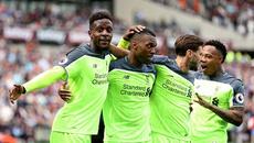 """Đại thắng """"bốn sao"""", Liverpool cắt đuôi Arsenal"""