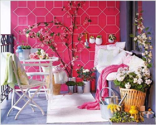 trang trí ban công, nhà đẹp, trồng hoa