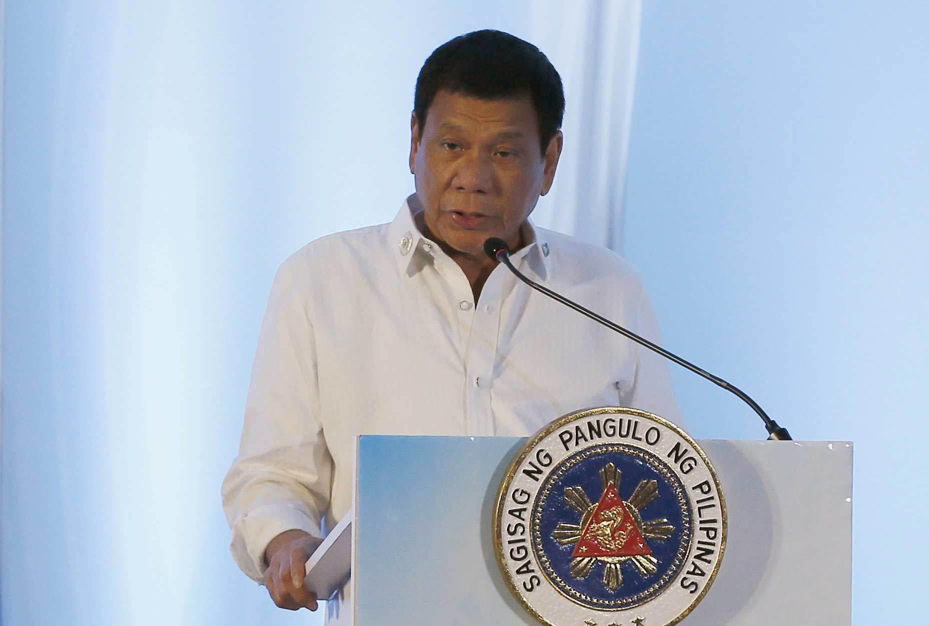 Duterte, Tổng thống Philippines, phát ngôn