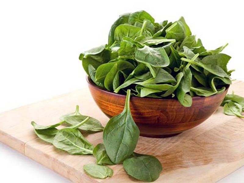 thiếu sắt, bổ sung sắt, rau xanh, thực phẩm