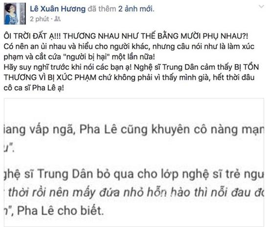 Xuân Hương, Pha Lê, Hương Giang, Trung Dân, sao Việt
