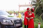 'Hot boy trà sữa' cưới ở quê, rước dâu bằng xe sang