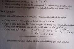 Quảng Nam ra đề thi môn toán bị sai