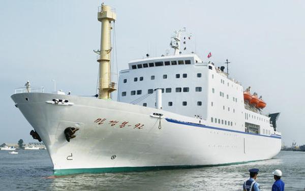 Triều Tiên, Nga, dịch vụ phà