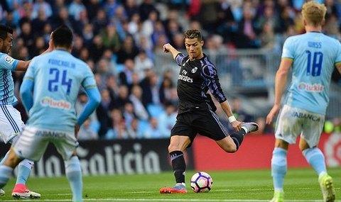 Celta Vigo 0-1 Real Madrid Ronaldo goal phút 10