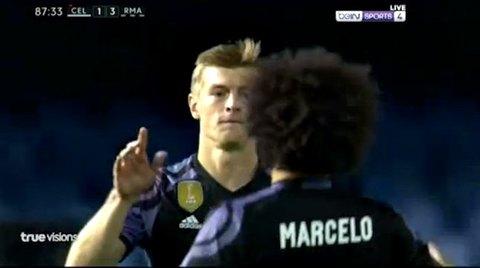 Celta Vigo 1-4 Real Madrid Kroos goal phút 88