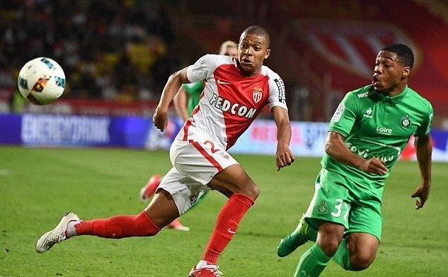 Mbappe, Monaco, St.Etienne, kết quả bóng đá
