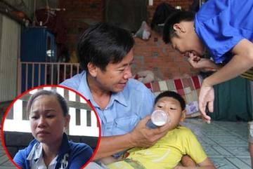 Người cha nuôi hai con bị teo não khẳng định không nói vợ cũ bỏ con và xin lỗi mọi người