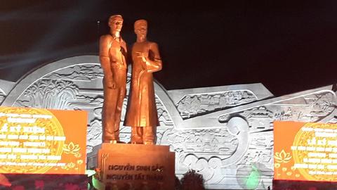 Khánh thành tượng đài Nguyễn Sinh Sắc - Nguyễn Tất Thành