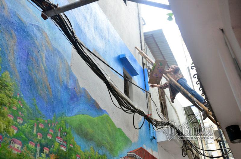 Ngõ nhỏ cũ kỹ ở Hà thành đẹp lung linh nhờ tranh 3D - ảnh 7