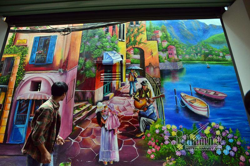 Ngõ nhỏ cũ kỹ ở Hà thành đẹp lung linh nhờ tranh 3D - ảnh 8