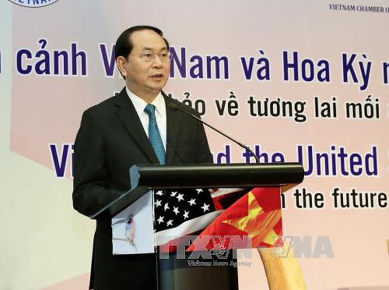Chủ tịch nước: Quan hệ Việt Nam-Hoa Kỳ phát triển thực chất, toàn diện