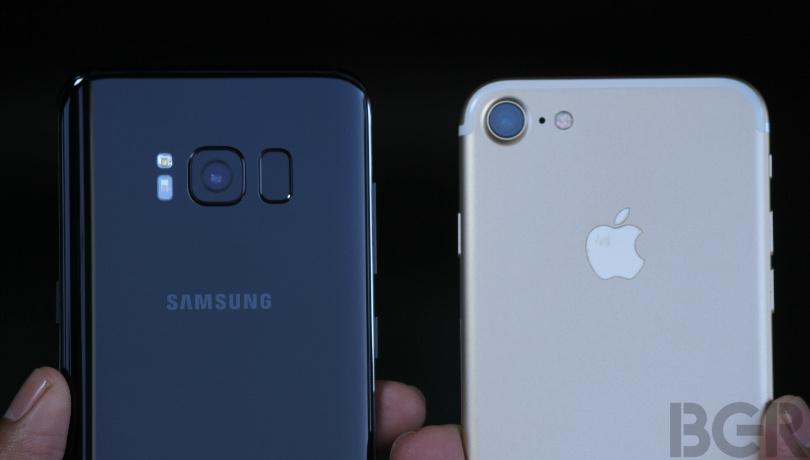 So sánh ảnh chụp từ camera Galaxy S8 với iPhone 7