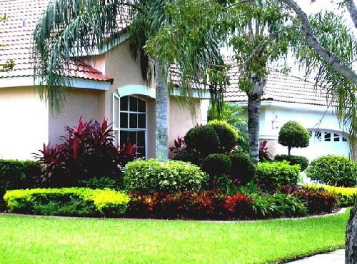 thiết kế sân vườn, nhà đẹp, trồng hoa