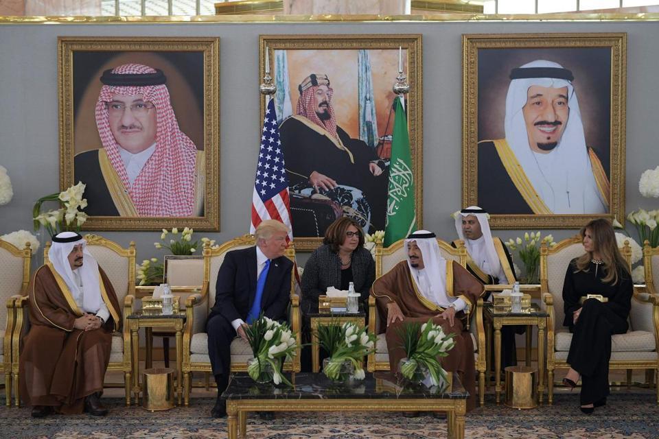 Tổng thống Mỹ, Donald Trump, công du, Ảrập Xêút, Vua Salman