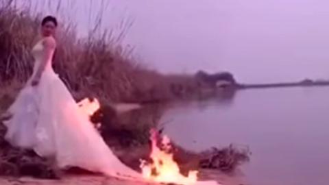 10 clip 'nóng': Người hùng xé áo cứu phù dâu khỏi đám cháy