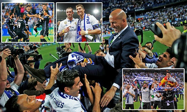 Ronaldo và đồng đội ngất ngây trên đỉnh vinh quang