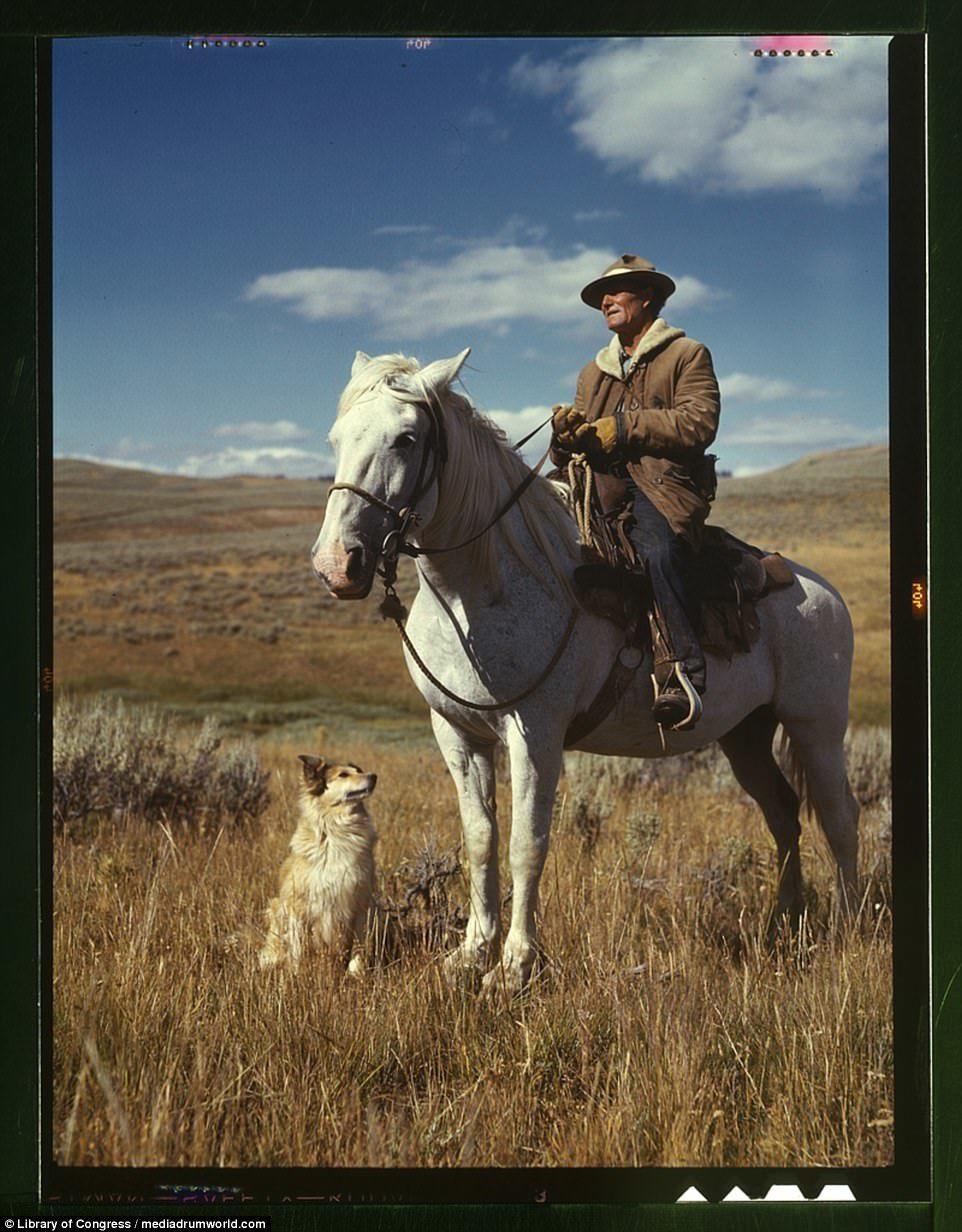 Ảnh màu hiếm về cao bồi miền Tây nước Mỹ nổi danh một thời