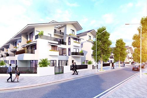 Thiết kế tràn sắc xanh của biệt thự song lập Iris Homes