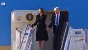 Bà Trump lại 'né' tay chồng