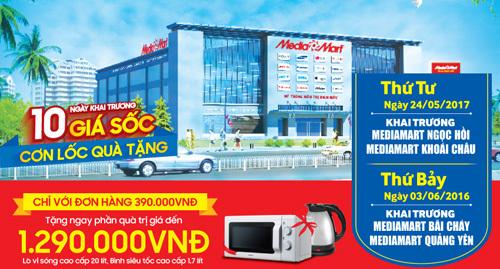 MediaMart khai trương 4 siêu thị điện máy mới