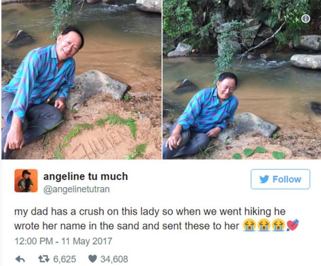 Cô gái gốc Việt giúp bố tỏ tình trên mạng xã hội