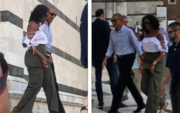 Cựu đệ nhất phu nhân Michelle Obama mặc quyến rũ