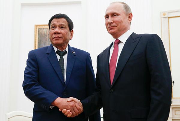 Nga, Putin, Philippines, Tổng thống Philippines