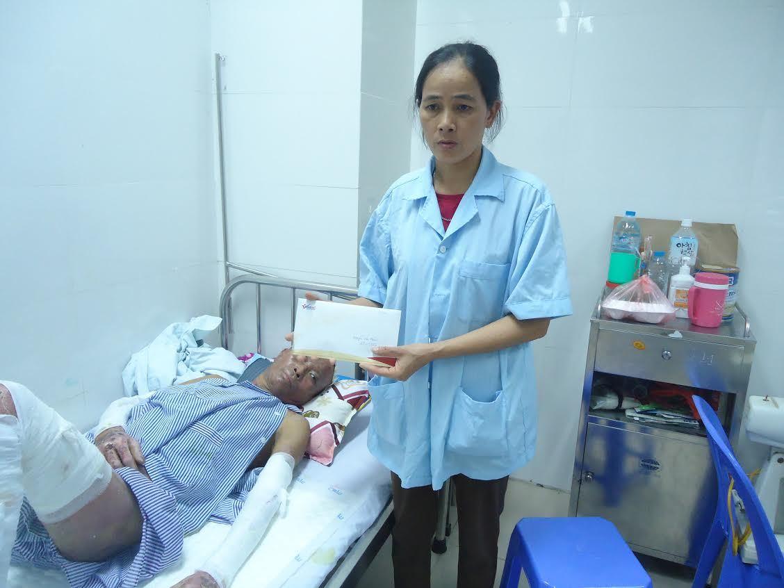 Hơn 40 triệu đồng, bạn đọc ủng hộ anh Nguyễn Văn Nhân bị bỏng ga