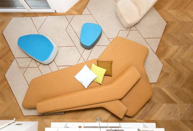 Ngất ngây căn hộ 210m2 với thiết kế đa giác cong lượn độc đáo