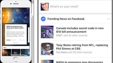 """Facebook tăng cường cập nhật chủ đề """"nóng"""" cho người dùng"""