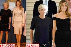 Đệ nhất phu nhân Pháp tự tin đọ dáng bên bà Trump